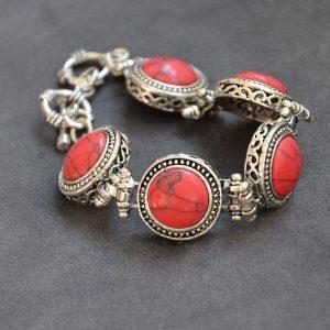 Rode armband