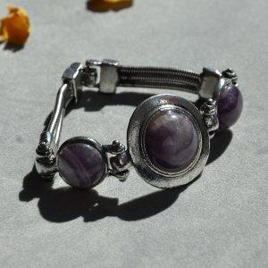 Mooie design paarse armband met hoge kwaliteit stalen band