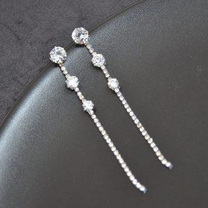 Lange opvallende kristallen oorbellen / hangers
