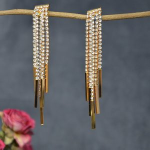 Lange mooie goudkleurige deftige oor hangers