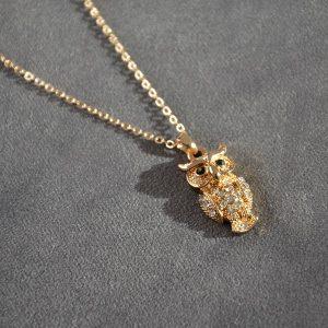 Mooie luxe goud kleurig ketting met uiltje
