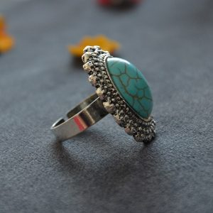 Turquoise grote luxe ringen